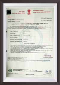 Dental X-Ray Blue-X Certificates